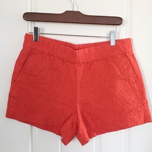 7/3/20 JCREW BROCADE ORANGE SHORTS